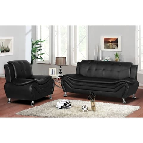 Arul Tufted Modern Club Sofa Chair Set