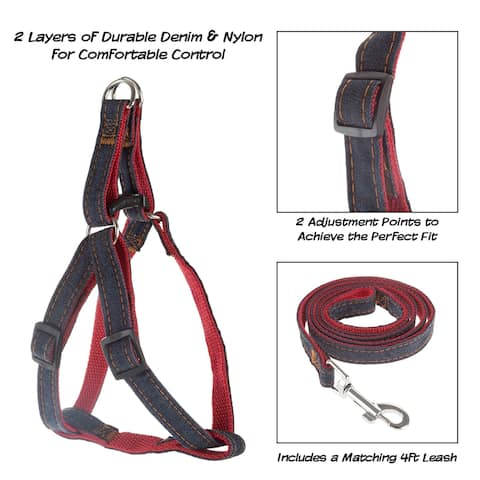Dog Harness and Leash Set Adjustable for Comfortable Control