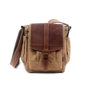 TSD Brand Turtle Ridge Canvas Crossbody Bag