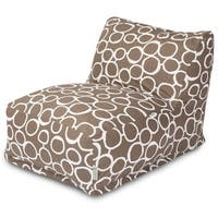 Majestic Home Goods Fusion Black Bean Bag Lounger Chair