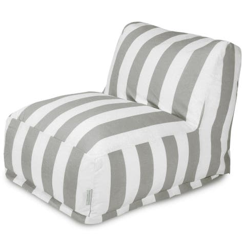 Majestic Home Goods Indoor Outdoor Vertical Stripe Bean Bag Chair Lounger 36 in L x 27 in W x 24 in H