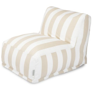 Majestic Home Goods Vertical Stripe Gray Bean Bag Lounger Chair
