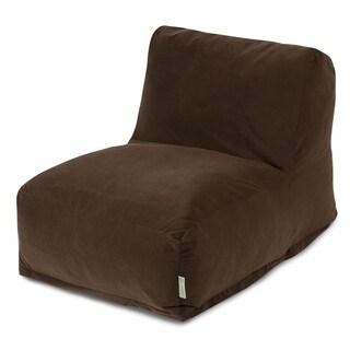 Majestic Home Goods Chocolate Velvet Bean Bag Lounger Chair