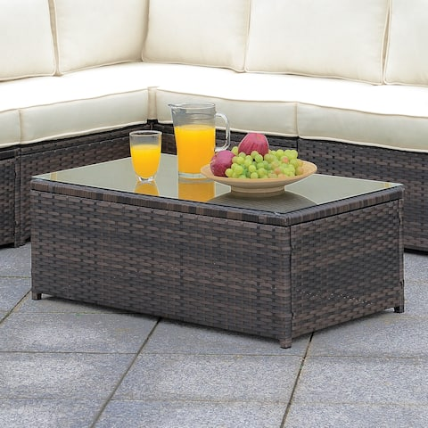 Furniture of America Villa Outdoor Weather Resistant Coffee Table