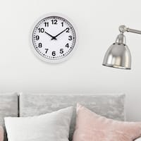 9 Inch Round Wall Clock with Bold Numbers