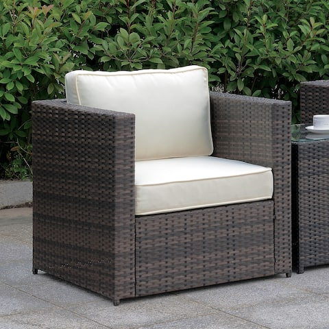 Furniture of America Villa Outdoor Weather Resistant Arm Chair