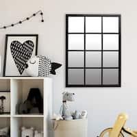 23x30 Classic Black Windowpane Mirror