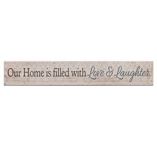 Love and Laughter Home Wood Wall Art - Brown