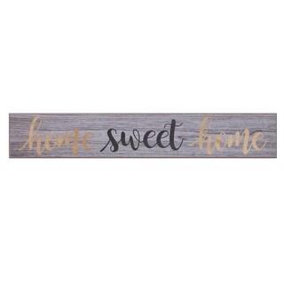 Home Sweet Home Rustic Wood Wall Art - Grey