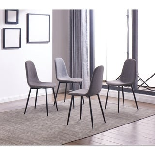 IDS Online 4 Pieces Dining Chair Set, One Size, Gray