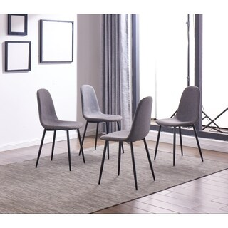 IDS Online 4 Pieces Dining Chair Set, One Size, Gray - N/A