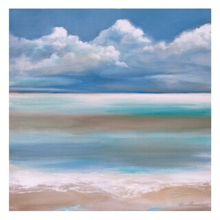 Tranquility By The Sea Coastal Canvas Art - Blue
