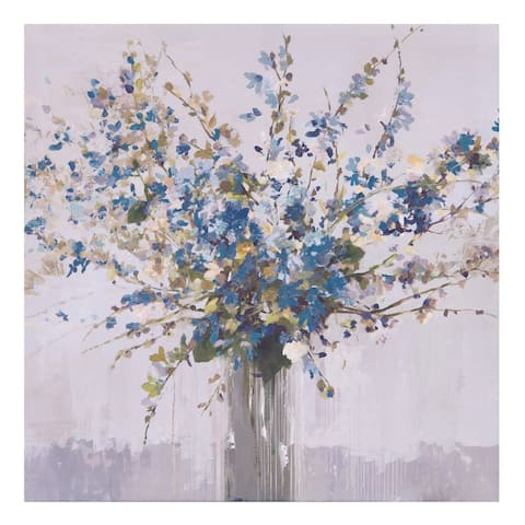 Blue Bouquet Floral Canvas Art