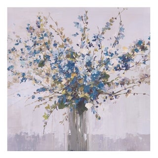 Blue Bouquet Floral Canvas Art