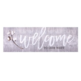 Welcome To Our Nest Canvas Art - Grey