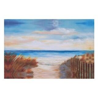 Ocean Breeze Costal Canvas Art - Blue