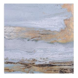 Playa Secreto Coastal Modern Canvas Art - White