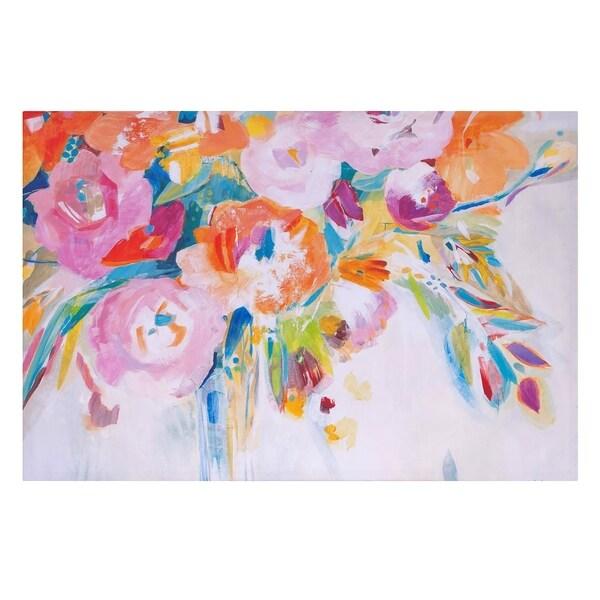 Dance Lessons Floral Canvas Art - White