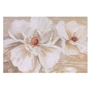 Bloomin Beauties Floral Canvas Art - White