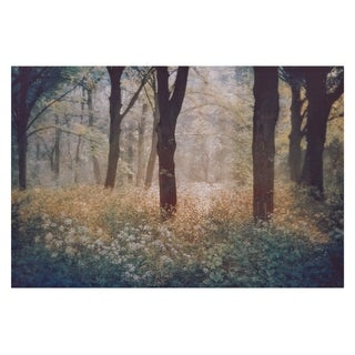 Meadow In The Forest Photography Canvas Art - Green