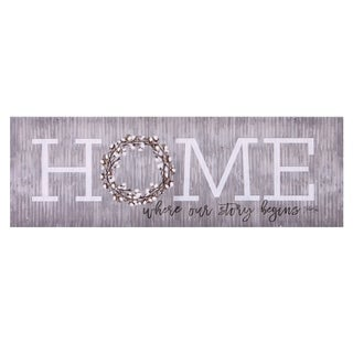 Home is Where Our Story Begins Canvas Art - Grey