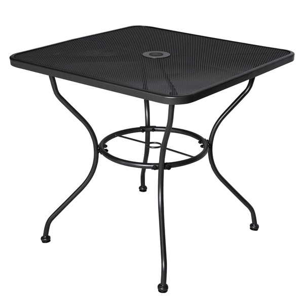 Shop 30 x 30 patio dining table square powder coated steel frame 30 x 30 patio dining table square powder coated steel frame top umbrella watchthetrailerfo