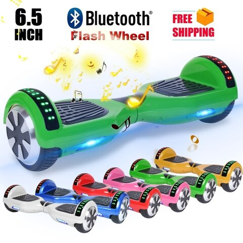 Bluetooth 6.5 Inch Self Balancing Electric Scooter LED Electric