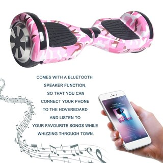 6.5 Inch Balancing Electric Scooter Bluetooth LED Skate Board (Option: Pink)