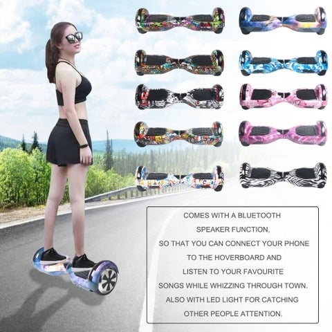 6.5 Inch Balancing Electric Scooter Bluetooth LED Skate Board
