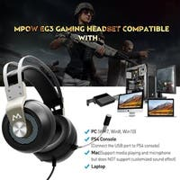 Mpow EG3 Gaming Headset, 7.1 Surround Sound Gaming Headphones Easy Volume/Mic Control for PC, PS4