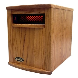 Sunheat International Amish Hand Crafted Electric Infrared Heater - Nebraska Oak