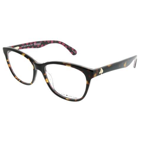 03ac60366 Kate Spade Rectangle KS Atalina 2VM Women Havana on Pattern Frame Eyeglasses