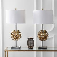 "Safavieh Lighting 30-inch Lionel Table Lamp - Black / Gold (Set of 2) - 15"" x 15"" x 30"""