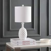 "Safavieh Lighting 21-inch Alanis Table Lamp - White - 10"" x 10"" x 21"""