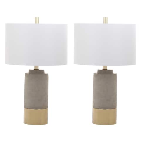 "Safavieh Lighting 24-inch Brown Table Lamp (Set of 2) - 14"" x 14"" x 24"""