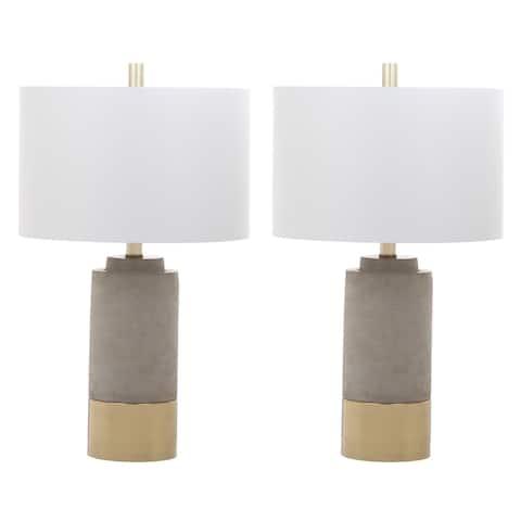 "Safavieh Lighting 24-inch Brown Table Lamp (Set of 2) - 14"" x 14"" x 24"""
