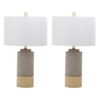 """Link to Safavieh Lighting 24-inch Brown Table Lamp (Set of 2) - 14"""" x 14"""" x 24"""" Similar Items in Table Lamps"""