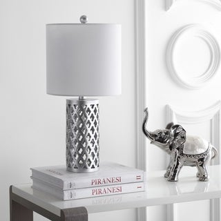 "Safavieh Lighting 21-inch Rorie Table Lamp - Silver - 10"" x 10"" x 21"""