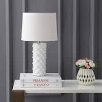 "Safavieh Lighting 18.5-inch Belford Table Lamp - White - 11"" x 11"" x 18.5"""