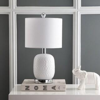 "Safavieh Lighting 19-inch Tucana Table Lamp - White - 10"" x 10"" x 19"""