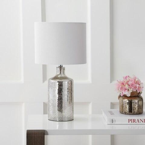 "Safavieh Lighting 19-inch Danaris Table Lamp - Silver - 10"" x 10"" x 19"""