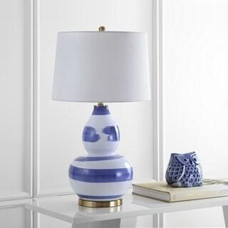 "Safavieh Lighting 32-inch Aileen Table Lamp - Blue / Gold - 18"" x 18"" x 32"""
