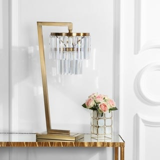 "Safavieh Lighting 30-inch Callum Table Lamp - Gold - 14.5"" x 10.5"" x 30"""