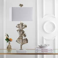 "Safavieh Lighting 35-inch Tala Ginkgo Leaf Table Lamp - Gold / White - 16"" x 10"" x 35"""