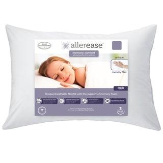 AllerEase Custom Comfort Memory Fiber Pillow - White