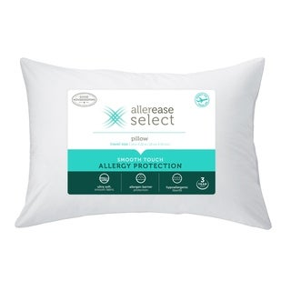 AllerEase Select Smooth Touch Allergy Protection Travel Pillow - White