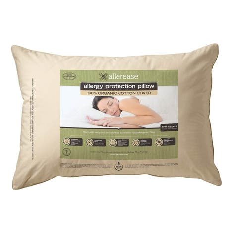 AllerEase Organic Cotton Top Allergy Protection Pillow - White