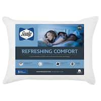 Sealy Moisture Wicking 100% Cotton Pillow - White