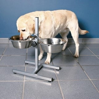 Dog Bowl with Adjustable Stand