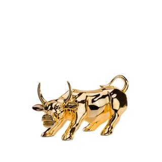 Finesse Décor- Modern Bull Sculpture- Gold Plated